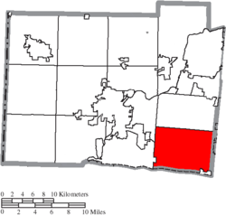 Location of West Chester Township in Butler County