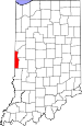 Map of Indiana highlighting Vermillion County.svg