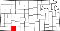 Map of Канзас highlighting Meade County