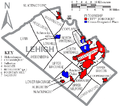 Map of Lehigh County Pennsylvania With Municipal and Township Labels.png