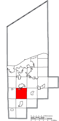 Location of Pittsfield Township in Lorain County