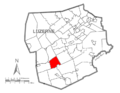 Map of Luzerne County, Pennsylvania Highlighting Hollenback Township.PNG