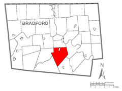 Map of Monroe Township, Bradford County, Pennsylvania Highlighted.png