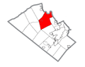 Map of North Whitehall Township, Lehigh County, Pennsylvania Highlighted.png