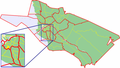 Map of Oulu highlighting Leveri.png