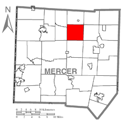 Location of Perry Township in Mercer County