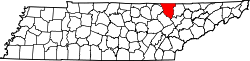 Map of Tennessee highlighting Scott County.svg