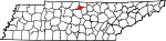 State map highlighting Trousdale County