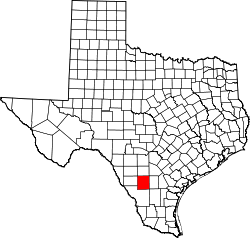 map of Texas highlighting La Salle County