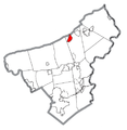 Map of Wind Gap, Northampton County, Pennsylvania Highlighted.png