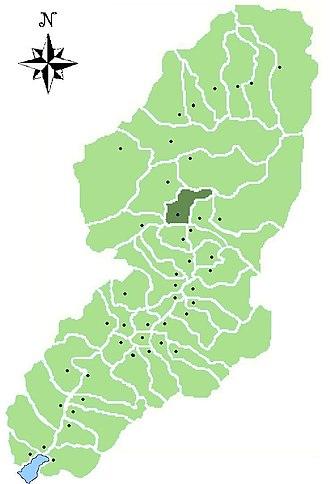 Berzo Demo - Image: Map of comune of Berzo Demo in Val Camonica (LG)