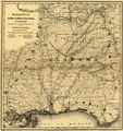 Map showing the line of the New Orleans, Mobile & Chattanooga Railroad, and also the chief agricultural and mineral districts of the state of Alabama. LOC 98688727.tif