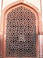 Marble mesh outside Humayun's tomb, Delhi.JPG