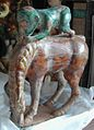 Marbleized Clay, Tri-Color Glazed of Monkey Piggy-Back on Horse.JPG