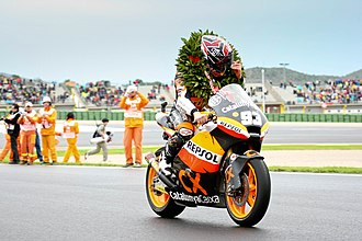 2012 Grand Prix motorcycle racing season - Image: Marc Marquez Campeon (19478143)