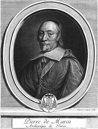 Pierre de Marca - Engraving by Gérard Edelinck, 1696