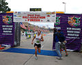 Mardi Gras Half Marathon Finish Poydras 2009 All-Guard Marathon Team.jpg