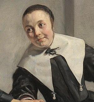 Margaretha van Bancken - Portrait of Margaretha van Bancken, detail of double portrait by Jan de Bray