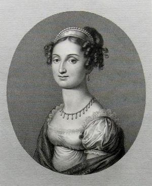Princess Maria Ferdinanda of Saxony - Maria Ferdinanda in 1822, the year after her marriage.