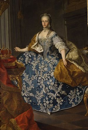 1766 in Austria - Maria Josepha of Bavaria, Holy Roman Empress by Martin van Meytens