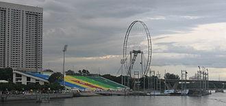 The Float @ Marina Bay - Image: Marina Bay Floating Platform, May 07