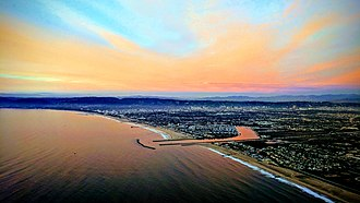 Marina del Rey, California - Aerial view of Marina del Rey on takeoff from Los Angeles International Airport