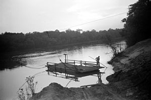 Cable ferry - Simple cable ferry, Gee's Bend, Alabama, 1939