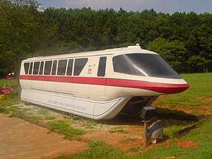 Mark IV monorail - Mark IV Monorail Red sitting in the front yard of Chip Young.