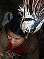 Market Woman with Dried Fish Head - Fish Market - Sittwe - Rakhaing (Arakan) State - Myanmar (Burma) (12231711695).jpg