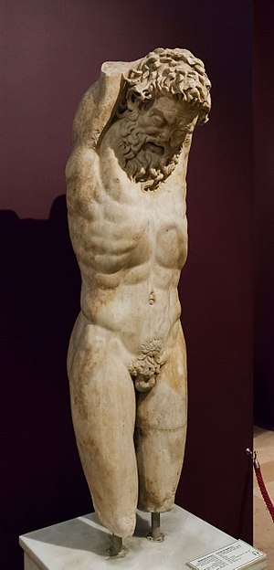 Marsyas - Marsyas receiving Apollo's punishment, İstanbul Archaeology Museum