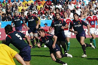 Rugby union in Spain - Spain (in blue kit) playing Portugal   in March 2009