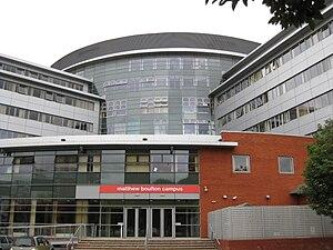 Birmingham Metropolitan College - The Matthew Boulton Campus viewed from Aston University Lake.