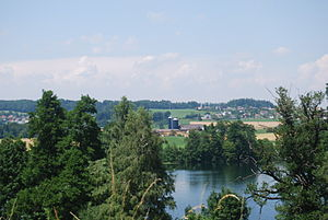 Knutwil - Image: Mauensee rigardo al Sankt Erhard (komunumo Knutwil) 008