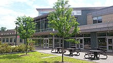 Maynard High School front in Maynard Massachusetts MA USA built in 2014.jpg