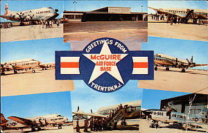 1611th Air Transport Wing - McGuire AFB – MATS Era Card – early 1960s