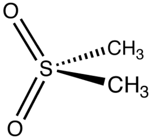 Methylsulfonylmethane - Image: Me 2SO2