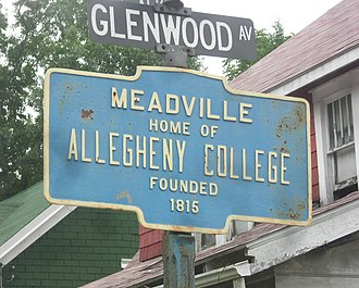 Meadville, Pennsylvania - Keystone Marker for Meadville