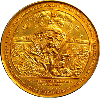 Smolensk War - Medal commemorating the victory of Władysław IV over Russia in Smolensk in 1634.