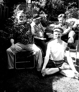 Punk literature - Members of The Medway Poets in 2003: Bill Lewis, Sexton Ming, Robert Earl and Billy Childish.