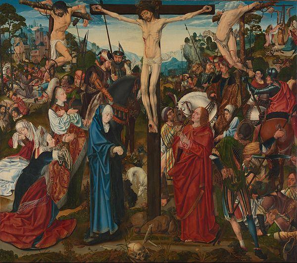Meister des Aachener Altars - Kreuzigung (National Gallery, London).jpg