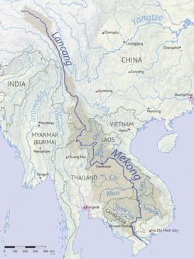 Rio Mekong Mapa Fisico.Rio Mekong Wikipedia La Enciclopedia Libre