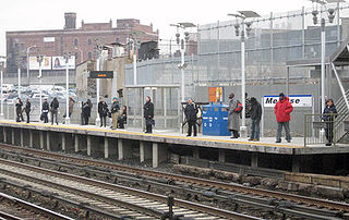 Melrose station Metro-North Railroad station in the Bronx, New York