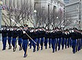 Members of the U.S. Army Fife and Drum Corps march past the presidential reviewing stand during a dress rehearsal for the presidential inauguration in Washington, D.C 130113-A-DH167-048.jpg