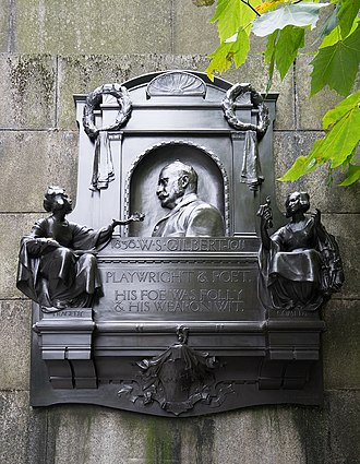 George Frampton - Memorial to W. S. Gilbert on Victoria Embankment, London by George Frampton, 1914