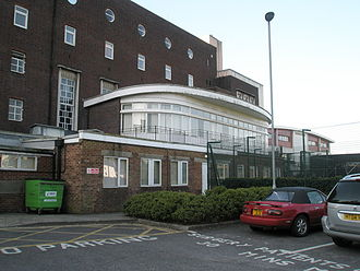 United Services Recreation Ground - The imposing Officer's Club building overlooks the ground, today it forms part of the University of Portsmouth's Nuffield Sports Centre.