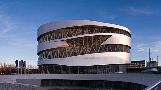 Mercedes-Benz Museum 201312 01 sunset
