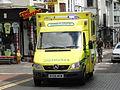 Mercedes Ambulance licence registration 'RX56 MVM' at Brighton.JPG