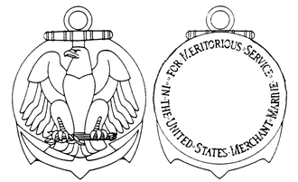 Merchant Marine Meritorious Service Medal - Obverse and reverse of the medal