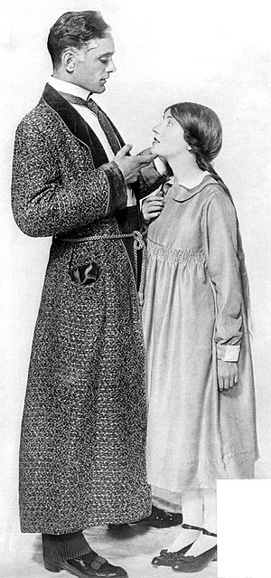 Pollyanna - Philip Merivale and Patricia Collinge in the Broadway production of Pollyanna (1916)
