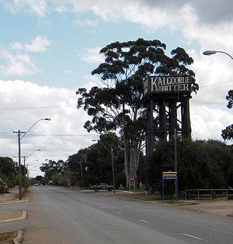 Merredin, Western Australia - Merredin Railway Water Tower and Great Eastern Highway